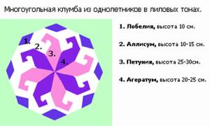 Вариант оформления круглого цветника своими руками