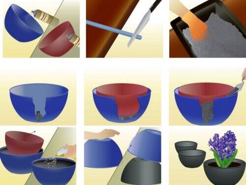 Сделать своими руками большие бетонные вазоны