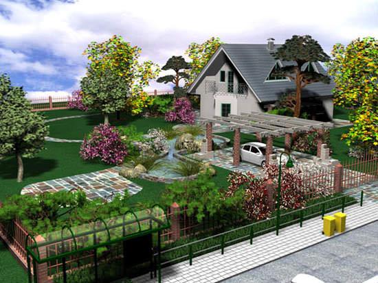 Дизайн на загородном участке
