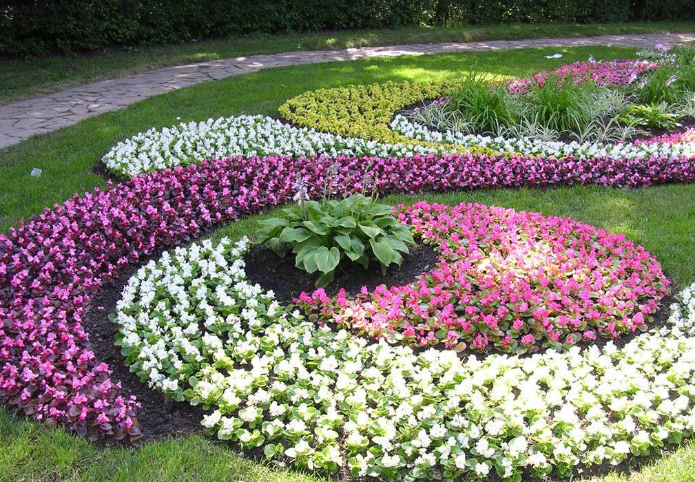 Фото садовых клумб своими руками