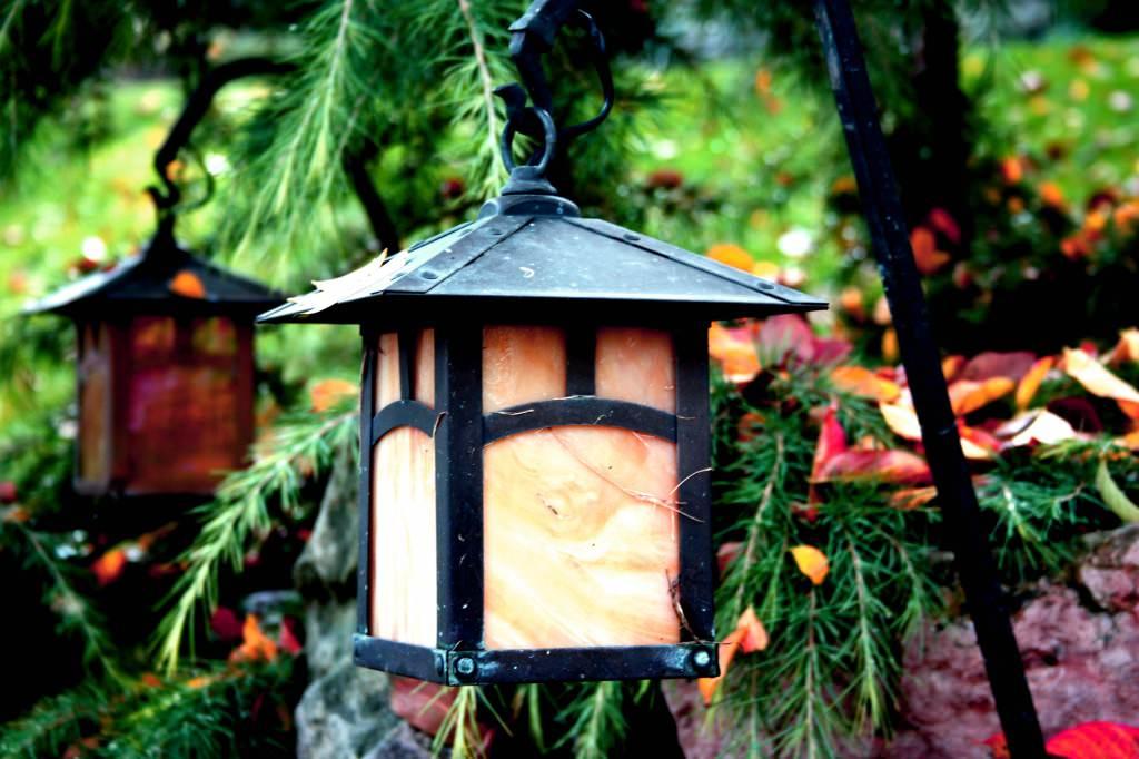 Фото светильников для сада