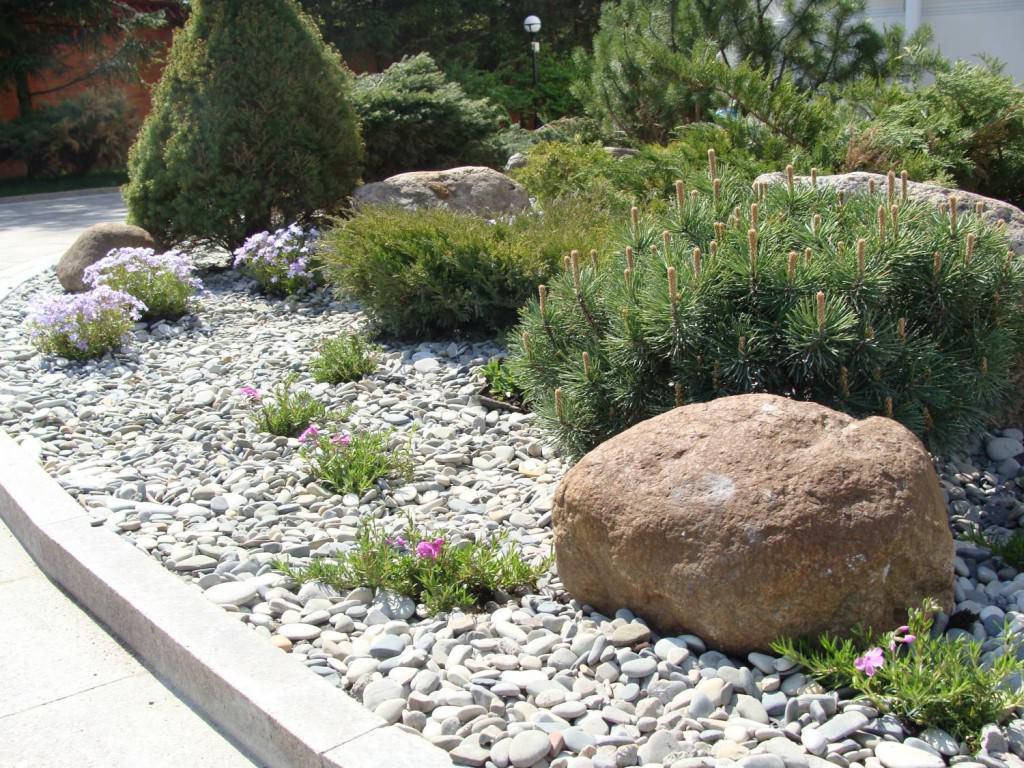 Схема гравийного сада