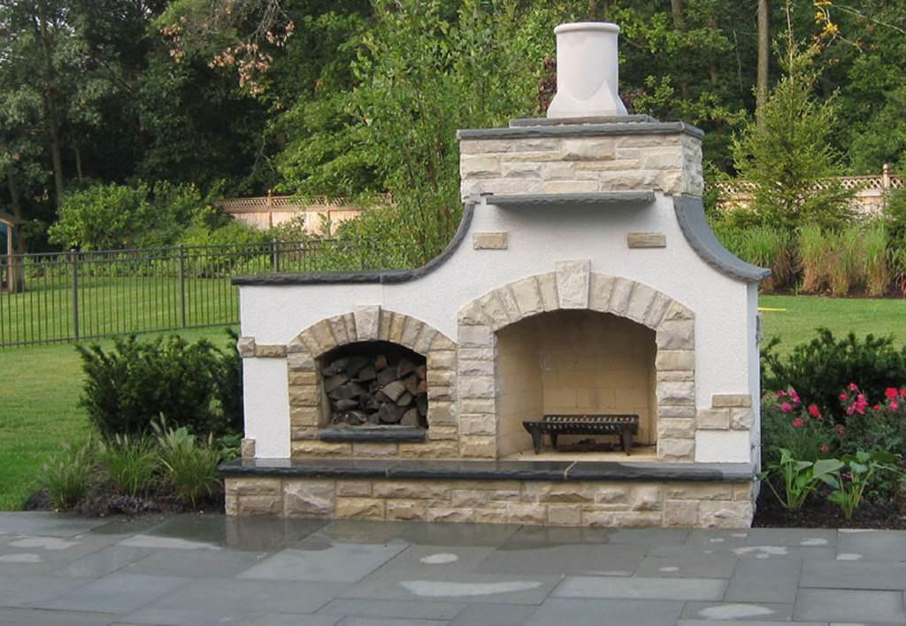 Схема уличного камина
