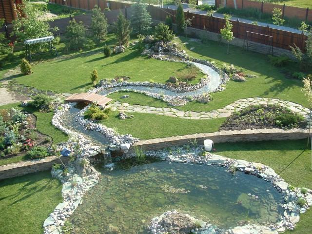 Фото сухой ручей в парках