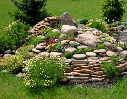 Декоративные камни для альпийской горки