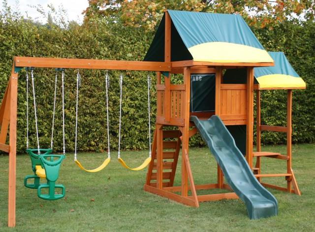 Дизаин участка с детской площадкой