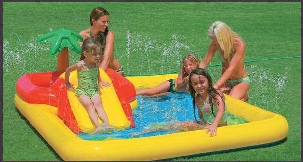 Надувной сухой бассейн