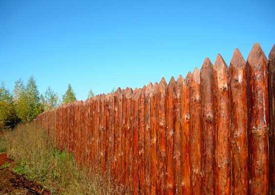Забор частокол фото
