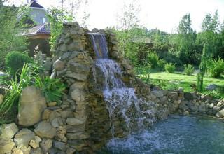 Водопад в ландшафтном дизайне