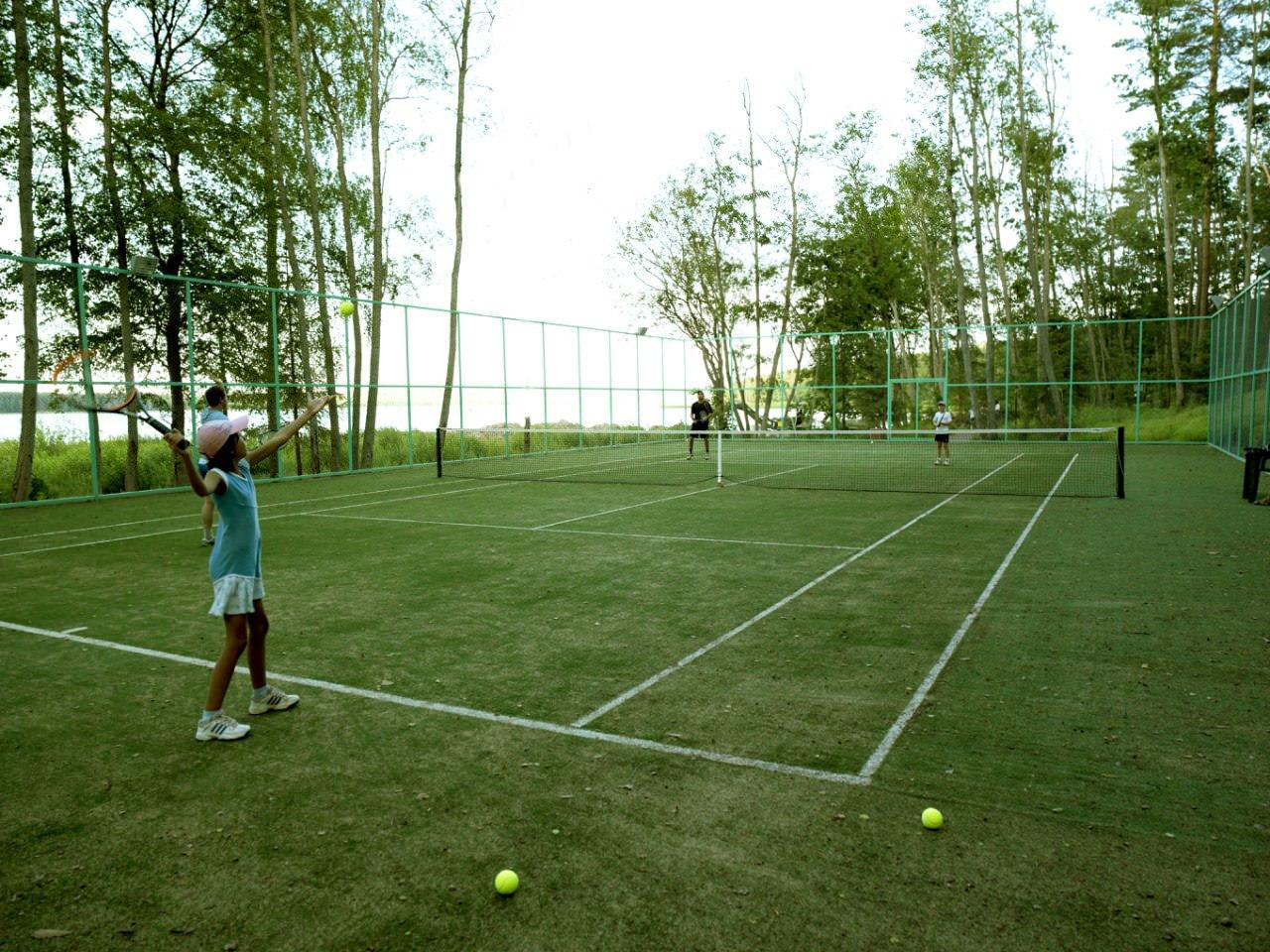 Теннисный корт размеры чертеж