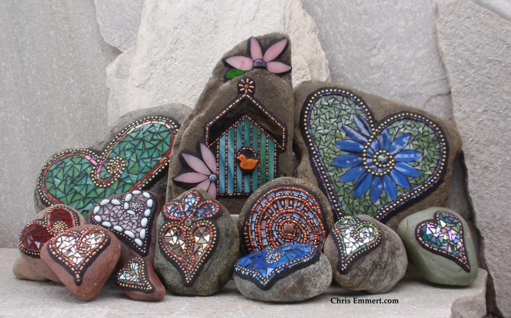 Приемы декорирования садовых дорожек мозаикой фото