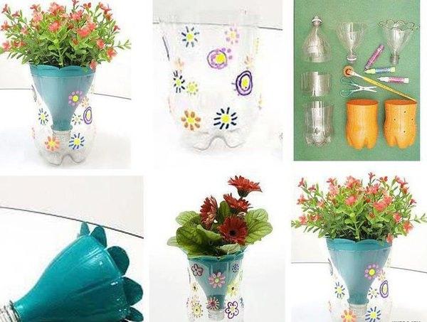 Трехъярусные вазоны для цветов пластиковые
