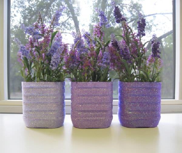 Пластмассовые горшки для цветов