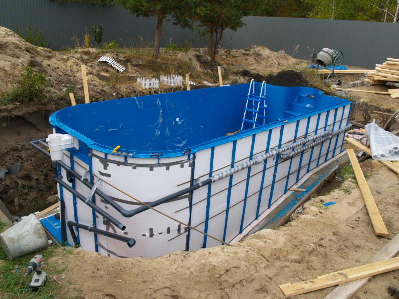 Пластиковый бассейн своими руками