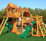 Детский городок из дерева с пластиковыми элементами