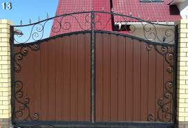 Ворота из профнастила своими руками видео