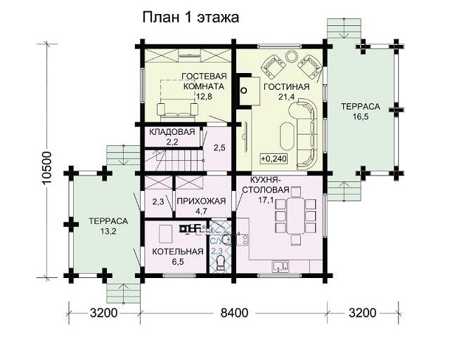 Открытая терраса на втором этаже