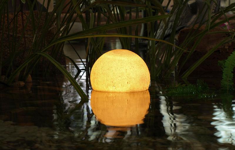 Подсветка пруду в ночное время