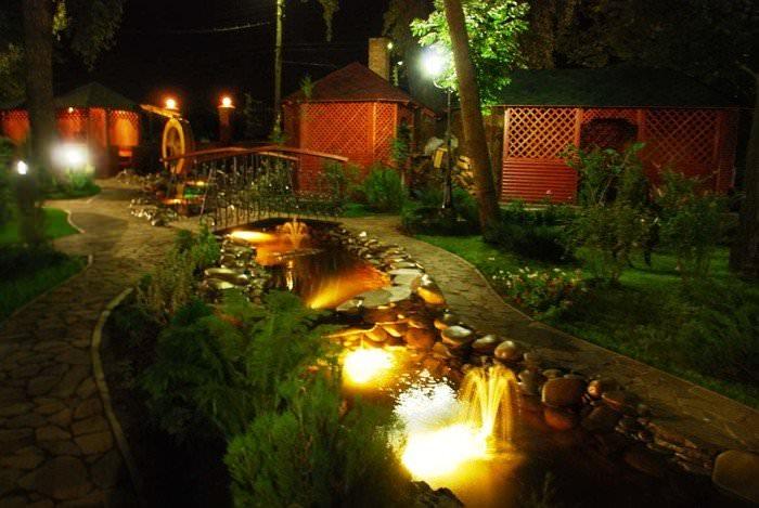 Подсветка для фонтана своими руками видео
