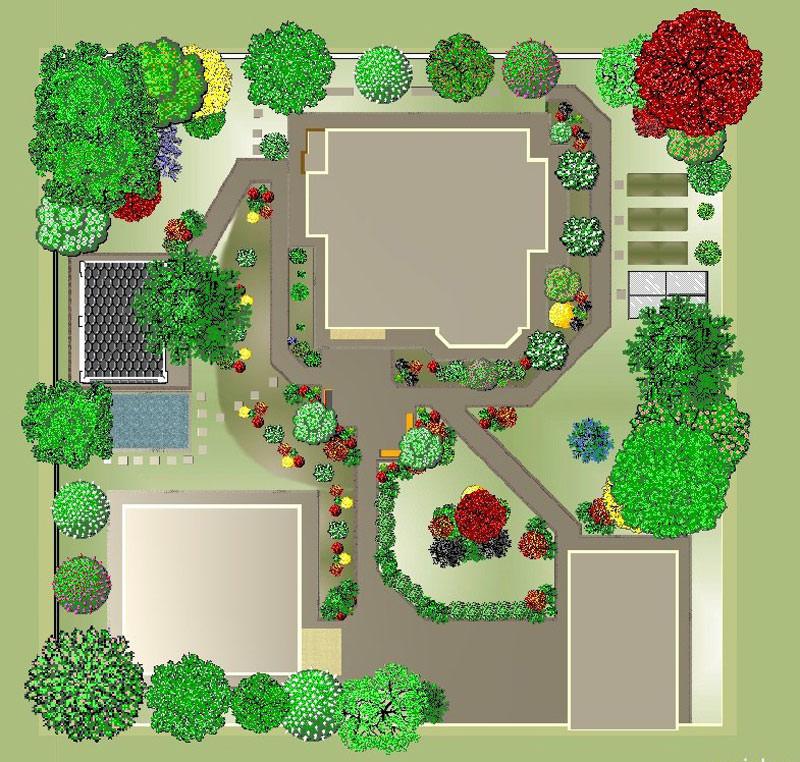 Ландшафтный дизайн участка 10 соток