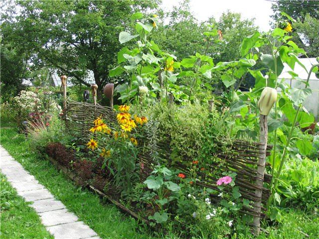 Изгородь из ивовых прутьев