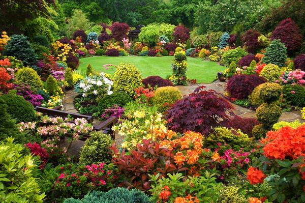Ландшафтный дизайн маленький парк