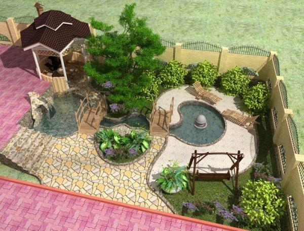 Дизайн садового участка 8 соток фото