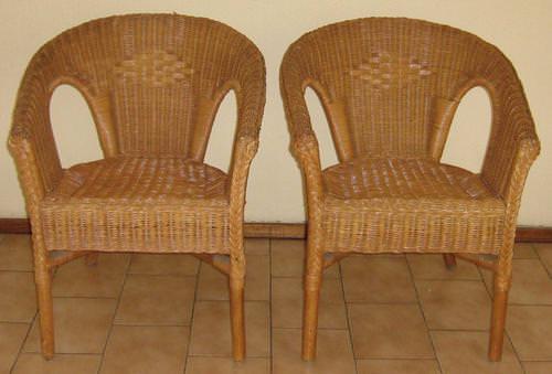 Плетение стула из лозы