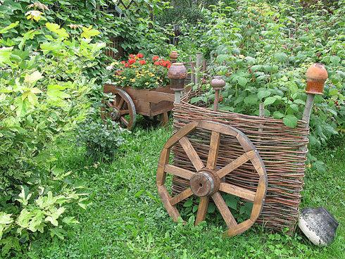 Ландшафтный дизайн в стиле деревенском