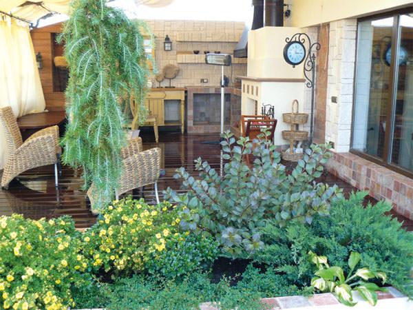 Сад на маленьком участке фото