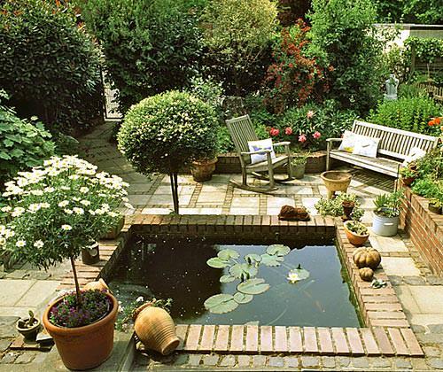Оформление небольшого сада фото