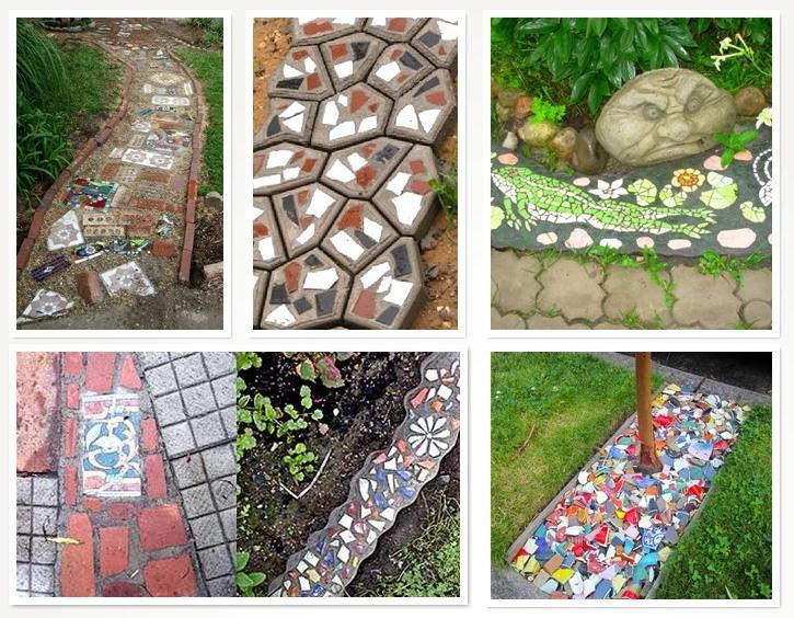 Варианты мозаичных дорожек