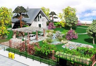 Ландшафтный дизайн участка в 20 соток