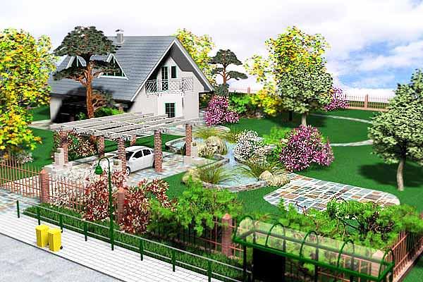Как украсить дизайн в саду