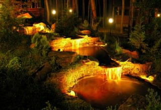 Подсветка для водоема своими руками