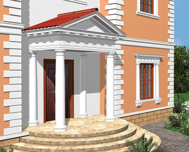 Декоративные фасадные элементы из пенополистирола