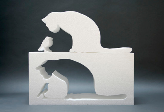 Пенопластовая фигурка готова к раскраске