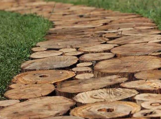 Тротуарная плитка из гальки и битума
