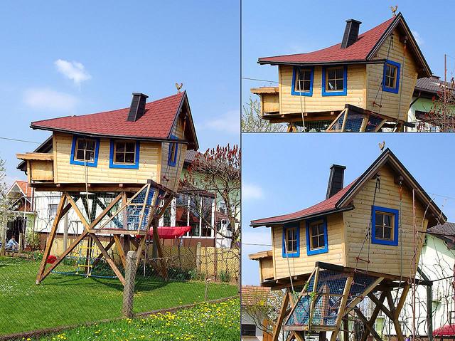 Детские двухэтажные игровые домики своими руками