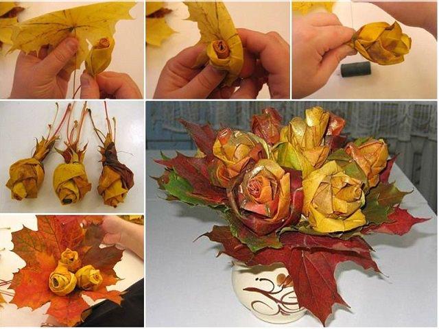 Осенние цветы своими руками