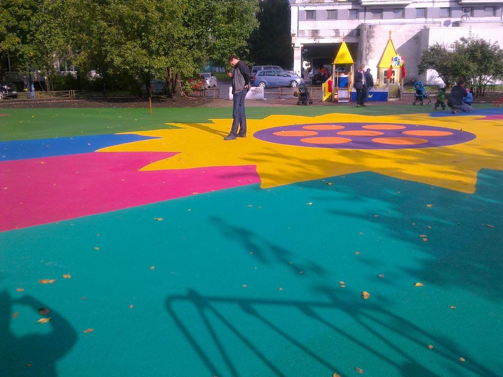 Покрытие для детско площадки