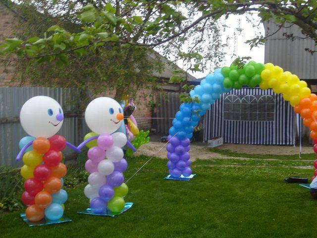 Как украсить двор на день рождения своими руками
