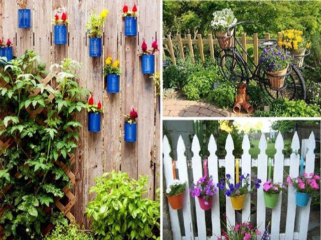 Украсить забор из сетки своими руками