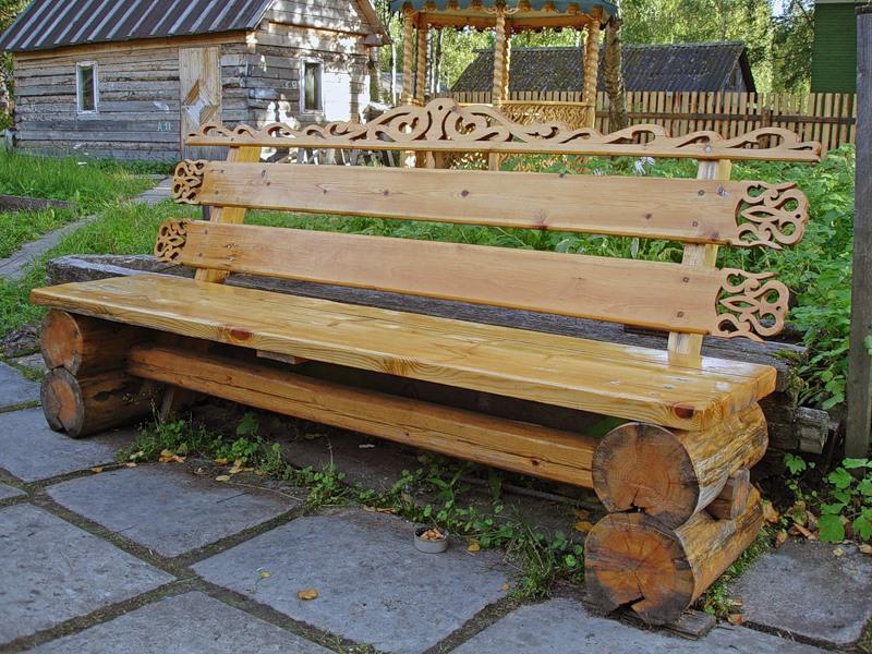 Садовая скамейка лавка своими руками