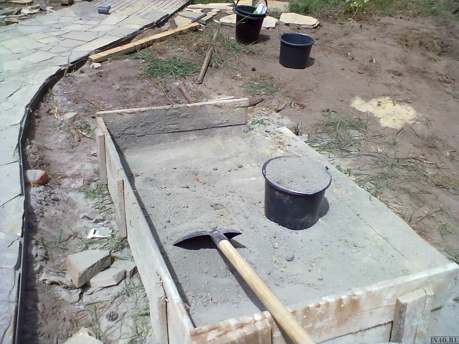 Когда заливать бетон на армированную основу