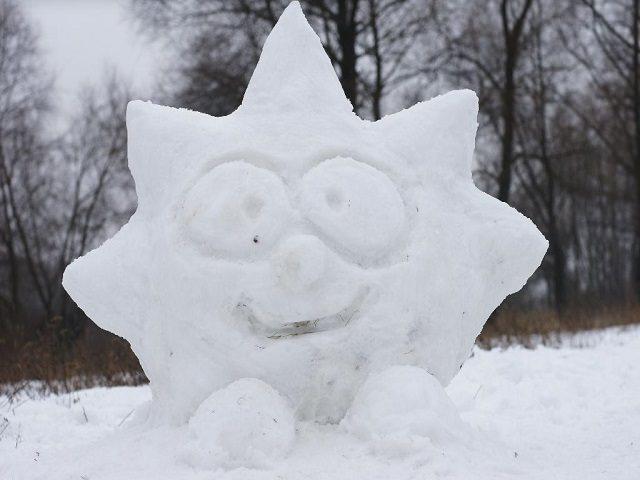 Снежная фигура своими руками