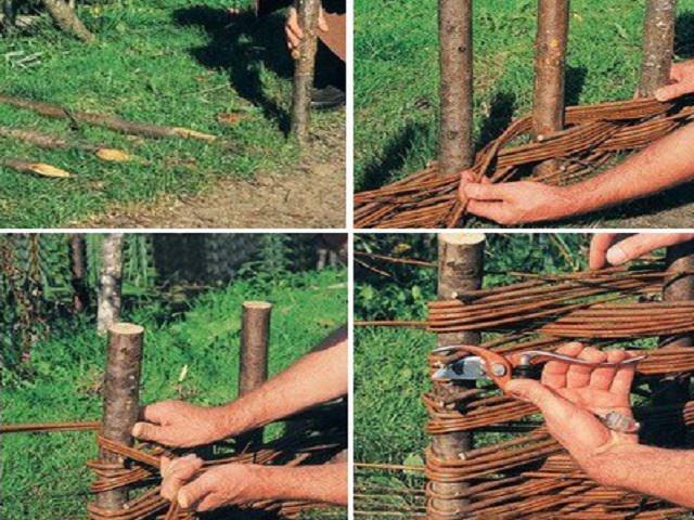 Плетеные заборы технология изготовления своими руками