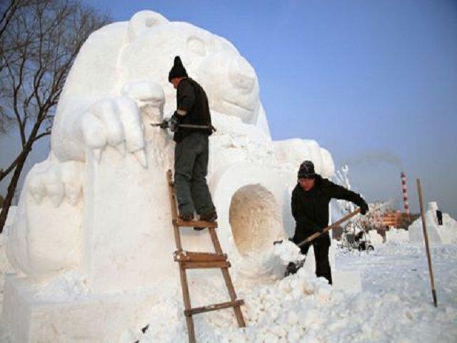 Паделки из снега