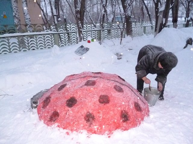 Фигурки из снега своими руками для детского сада фото