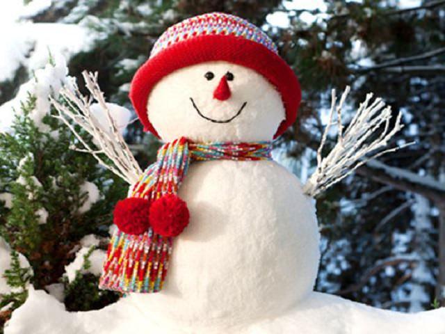 Снеговик из теста соленого
